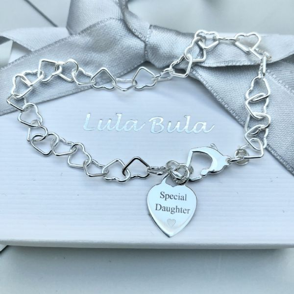 Gift for a daughter charm bracelet - FREE ENGRAVING